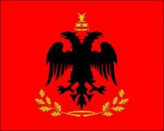 Albanian Flag, Albania Flag, Flag of Albania, Albania Flaga Wallpaper Montenegro Flag, Kosovo Flag, Albanian Culture, Black Girl Cartoon, Anime Art Fantasy, Flag Art, Beach Landscape, Trieste, National Flag