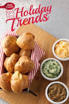 Trend 5: All-American Pastries {Mini-Popovers with Flavored Butter Trio} #MakeMerry