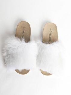 PETER NON - Platform Fur Sandal - SS16-FR-FURY-WHITE - H. Lorenzo