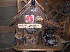 Gomer's garage with old truck