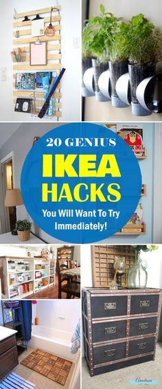 Transform affordable IKEA products into creative new pieces for your home! 20 genius IKEA hacks to try.