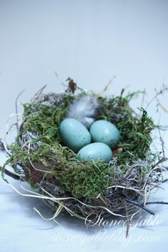StoneGable: SPRING BIRD NEST TUTORIAL