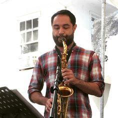 Funky jazz fusion music uplifting downtown Davis all afternoon. #saxophone #beats