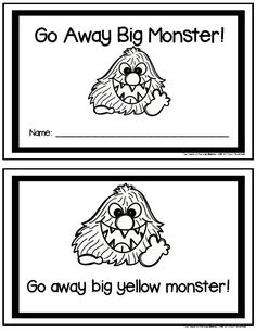 Go Away Big Monster Student Booklet {FREE} by The Teaching Scene by Maureen Monster Activities, Halloween Activities, Book Activities, Preschool Activities, Halloween Crafts, Preschool Colors, Fall Preschool, Preschool Classroom, Big Green Monster