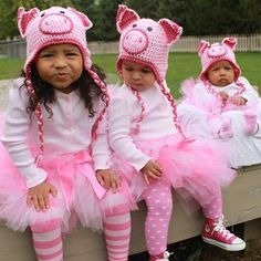 Pig Hat - Custom Size and Color - Boy or Girl. $16.00, via Etsy. I just LOVE the piggies with tutus!