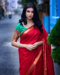 Photo shared by AnkitA AicH on April 2020 tagging and Image may contain: 1 person, standing and outdoor Beautiful Saree, Beautiful Women, Indian Fashion Bloggers, Fancy Sarees, Silk Sarees, Anupama Parameswaran, Red Saree, India Beauty, Indian Girls