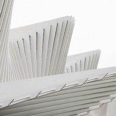 Gedanke: Dynamik sichtbar machen (Hier: Überdachung von Santiago Calatrava) Santiago Calatrava, Reggio Emilia, Pavilion, Form, Architecture Design, House, Breakfast, Health, Architects