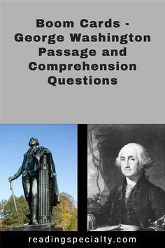 George Washington the military general, was a Founding Father who served as the first president of the United States from 1789 to 1797. Students will read the life of Washington and check their comprehension using the embedded self-checking questions. Social Studies Resources, Teaching Social Studies, Example Of Biography, Middle School History, Days In February, Comprehension Questions, Reading Passages, Biographies