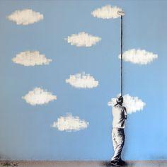 Martin Whatson Stencil Graffiti, Graffiti Murals, Stencil Art, Stencils, Street Art Banksy, Illustration Pop Art, Art Mur, Grafiti, Colossal Art