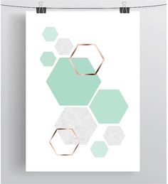 Blush Print Copper Wall Art Rose Gold Print Hexagon Poster Geometric Print Scandinavian Print Minimalist Art Modern Print Blush Home Decor - Erröten Print Kupfer Wand Kunst Rose Gold Print von PrintAvenue - Art Mural Rose, Art Rose, Copper Wall Art, Copper Decor, Metal Art, Minimal Art, Art Minimaliste, Pink Wall Art, Gold Print