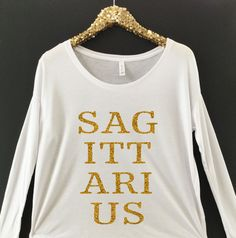 Sagittarius Birthday Tee With Gold Glitter