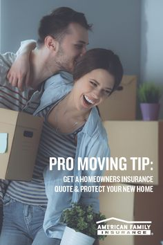 Need some moving tips? Here's one: don't forget insurance! Connect with an American Family agent today and get a custom homeowners quote by providing a few details about yourself to help you protect what matters most.