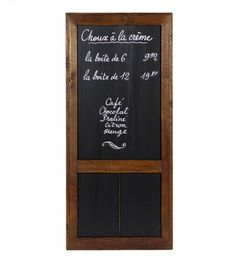Large Reclaimed Wood Cafe Chalkboard