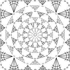 crochet circle granny diagram - Google Search