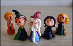 Chibi Potters Collection by IdeasInColdPorcelain on Etsy, $13.00