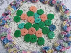 Multi Color Spirals Dimensions Needlecraft Felt Embellishments