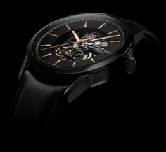 Sleek, all black watch. #mensfashion #luxurywatch #menswatch #watch #raymondweil #raymondweilwatch #diamondhut #fashion diamondhut.com