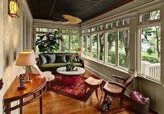 wood furniture enclosed patio