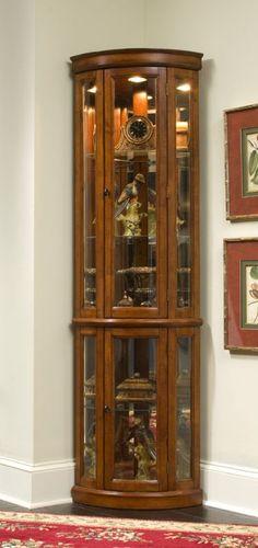 Corner Curio Cabinet - Edwardian II
