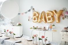 The Swank Social | Hello World Baby Shower as seen on Style Me Pretty Living