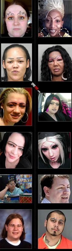 Remember people: LEAVE YOUR EYEBROWS ALONE! CHANGING THEM WILL ONLY END IN YOU BEING MADE FUN OF ON THE NET... Like these people!~