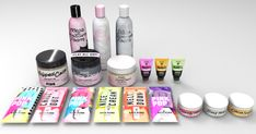 & VS Pink Set 7 Items (Located in Plants, Clutter, & Miscellaneous Decor): Clay Face and Body Mask Foam Recolors) Pain.