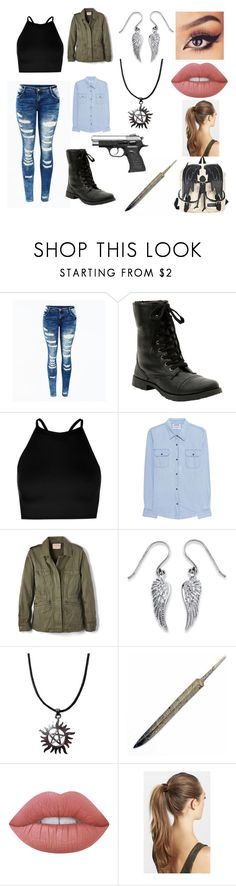 """""""Dean Winchester cosplay"""" by average-addison on Polyvore featuring Hot Topic, Boohoo, OneTeaspoon, Velvet by Graham & Spencer, Palm Beach Jewelry, Lime Crime and France Luxe"""