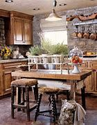 38 Stunning Rustic Kitchen Wall Decorating Ideas While you want to remodel your kitchen, various elements have to be taken under consideration. The kitchen comes with a regal design style, Country Kitchen Designs, Rustic Kitchen Design, Farmhouse Kitchen Decor, Kitchen Dining, Stone Kitchen, Kitchen Island, Kitchen Country, Ranch Kitchen, Rustic Design