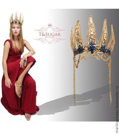 """Купить """"Золотая Карона"""" корона - золотой, золотая карона, корона, корона для сцены, корона с камнями"""