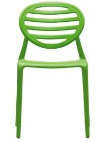 Zelená plastová židle GITO C