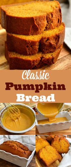 Pumpkin Spice Bread, Pumpkin Loaf, Pumpkin Dessert, Pumpkin Chocolate Chip Bread, Vegan Pumpkin Pie, Recipe Using Pumpkin, Pumpkin Puree Recipes, Homemade Pumpkin Puree, Quick Bread Recipes