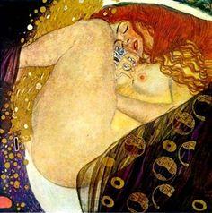 구스타프 클림트 - <다나에>   웅크리고 있는 여성을 그린 작품입니다. 클림트의 작품의 특성상 독특한 재료와 색을 사용해서 역시 환상적인 분위기가 납니다. 마치 꿈에서 본듯한 그런 몽환적인 아름다움이 담겨있는 그림입니다.