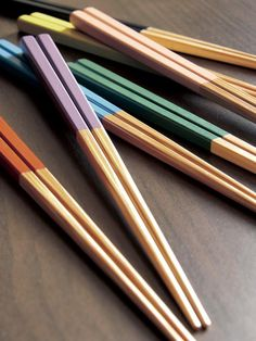 Japanese chopsticks.  I use them with everything, even ice cream and salad.  :)  Food just taste better using these.
