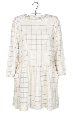 Robe carreaux Regalo Blanc by LEON & HARPER