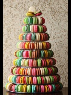 colorful macarons. This is an awesome idea :)
