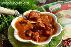 Szybki gulasz wieprzowy na piwie - niebo na talerzu Chana Masala, Lamb, Pork, Favorite Recipes, Beef, Dinner, Cooking, Ethnic Recipes, Goulash