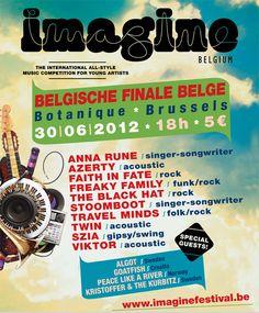 30 June @ Botanique - Imagine Belgium national finals featuring 10 bands + 4 international guests!