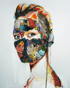 "Artist: Sandra Chevrier ~ Illustrations Title: ""Comics Portraits"" ~ Very interesting!"