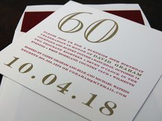 surprise 60th birthday party invitation from Chic Ink #letterpress