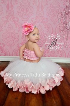 Valentines Day Tutu Dress Rose Petal Tutu by MyPrincessTutuBoutiq