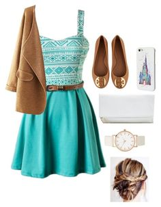 """""""Untitled #2317"""" by if-i-were-famous1 ❤ liked on Polyvore featuring Tory Burch, GUESS and Disney"""