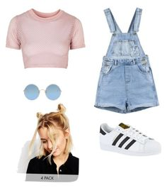 """""""Pastel grunge"""" by cheyenne-sarkis ❤ liked on Polyvore featuring Topshop, Sunday Somewhere, adidas and ASOS"""
