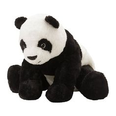 IKEA Panda Bear Stuffed Animal Kid Soft Toy White Black KRAMIG NEW GIFT. Manufacturer: IKEA of Sweden. This lovely Panda Bear soft toy is good at hugging, comforting, and listening. It is ideal for children of all ages. Panda Stuffed Animal, Stuffed Animals, Stuffed Toy, Panda Party Favors, Articles Pour Enfants, Ikea Toys, Children's Toys, Ikea Family, Best Kids Toys