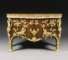 "A RÉGENCE STYLE GILT BRONZE MOUNTED KINGWOOD AND FRUITWOOD TRELLIS PARQUETRY COMMODE KNOWN AS ""COMMODE À PIPÉE DES OISEAUX"", PARIS, LATE 19T..."