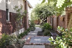 Wembley Residence heritage home landscape design Landscape Design, Sidewalk, Home And Garden, Gardens, Homes, Patio, Building, Projects, Home Decor