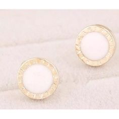 Bvlgari earrings Gorgeous white center stud earrings Jewelry Earrings