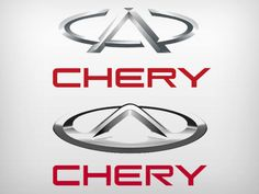 Logotipos antigo e novo da Chery