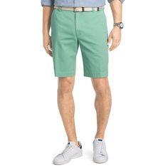 Men's IZOD Flat-Front Chino Shorts, Size: 40, Green Oth