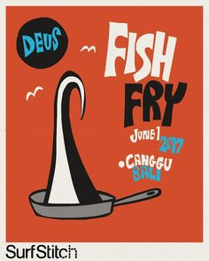 deuscustoms Let's get this party started!⠀     ⠀     Kicking off this year's #deus9ftandsingle is the Fish Fry surf comp starting at 7am sharp this morning and will go till 1ish. Come down to Tugu Beach to watch some amazing surfing on some really cool boards. We will be hangin at @thelawncanggu. Coffee and Breakfast will be ready. See you there!⠀     ⠀     Presented by @surfstitch ⠀     Artwork by @paulmcneil⠀