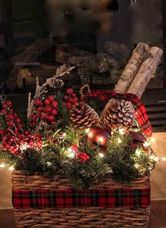 make faux birch logs using foam pool noodles, christmas decorations, crafts, seasonal holiday decor 10 Insanely Creative Ways to Use Pool Noodles Outside the Pool from Hometalk Christmas Baskets, Noel Christmas, Outdoor Christmas, Rustic Christmas, Christmas Projects, Winter Christmas, Christmas Ornaments, Tartan Christmas, Christmas Lights